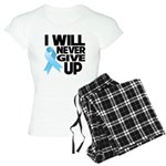 Never Give Up Prostate Cancer Women's Light Pajama