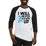 Never Give Up Prostate Cancer Baseball Jersey