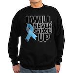 Never Give Up Prostate Cancer Sweatshirt (dark)
