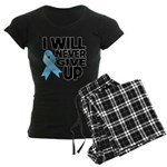 Never Give Up Prostate Cancer Women's Dark Pajamas