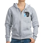 Never Give Up Prostate Cancer Women's Zip Hoodie