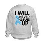 Never Give Up Prostate Cancer Kids Sweatshirt
