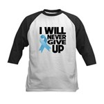 Never Give Up Prostate Cancer Kids Baseball Jersey