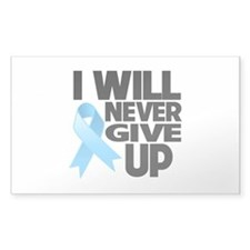 Never Give Up Prostate Cancer Decal