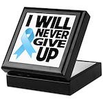 Never Give Up Prostate Cancer Keepsake Box