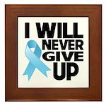 Never Give Up Prostate Cancer Framed Tile