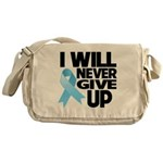 Never Give Up Prostate Cancer Messenger Bag