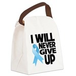 Never Give Up Prostate Cancer Canvas Lunch Bag
