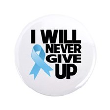 """Never Give Up Prostate Cancer 3.5"""" Button (100 pac"""