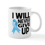 Never Give Up Prostate Cancer Mug