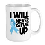 Never Give Up Prostate Cancer Large Mug