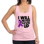 Never Give Up Pancreatic Cancer Racerback Tank Top