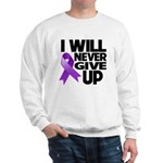 Never Give Up Pancreatic Cancer Sweatshirt