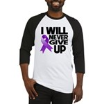 Never Give Up Pancreatic Cancer Baseball Jersey
