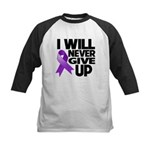 Never Give Up Pancreatic Cancer Kids Baseball Jers