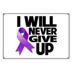 Never Give Up Pancreatic Cancer Banner