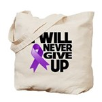 Never Give Up Pancreatic Cancer Tote Bag