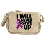 Never Give Up Pancreatic Cancer Messenger Bag
