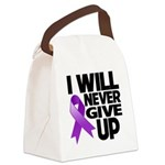 Never Give Up Pancreatic Cancer Canvas Lunch Bag