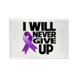 Never Give Up Pancreatic Cancer Rectangle Magnet (