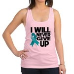 Never Give Up Ovarian Cancer Racerback Tank Top