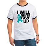 Never Give Up Ovarian Cancer Ringer T