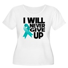 Never Give Up Ovarian Cancer T-Shirt