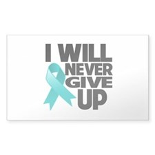 Never Give Up Ovarian Cancer Decal