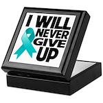 Never Give Up Ovarian Cancer Keepsake Box