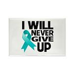Never Give Up Ovarian Cancer Rectangle Magnet (10