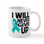Never Give Up Ovarian Cancer Mug