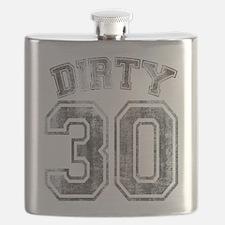Dirty 30 Grunge Flask