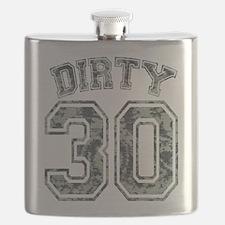 Dirty 30 Grunge 2 Flask