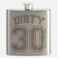 Dirty 30 Grunge 3 Flask
