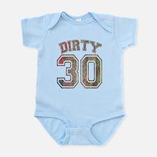 Dirty 30 Grunge 3 Infant Bodysuit