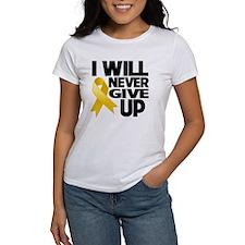 Never Give Up Neuroblastoma Tee
