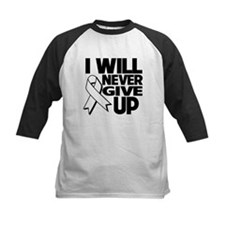 Never Give Up Mesothelioma Tee