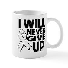 Never Give Up Mesothelioma Mug