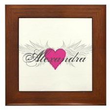 My Sweet Angel Alexandra Framed Tile