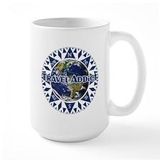 Travel Addict 'Compass' Mug