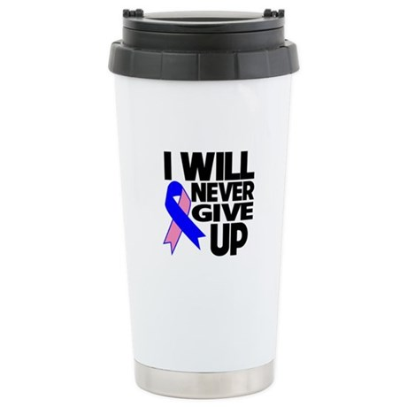 Never Give Up Male Breast Cancer Stainless Steel T