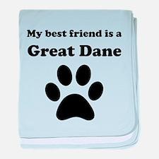 Great Dane Best Friend baby blanket