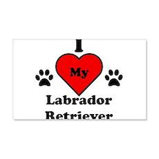 I Heart My Labrador Retriever Wall Decal