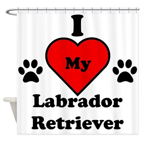 I Heart My Labrador Retriever Shower Curtain
