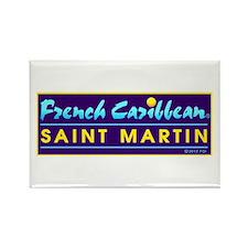 St. Martin Rectangle Magnet
