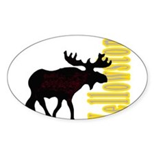 Vertical Yellowstone Moose Rectangle Decal