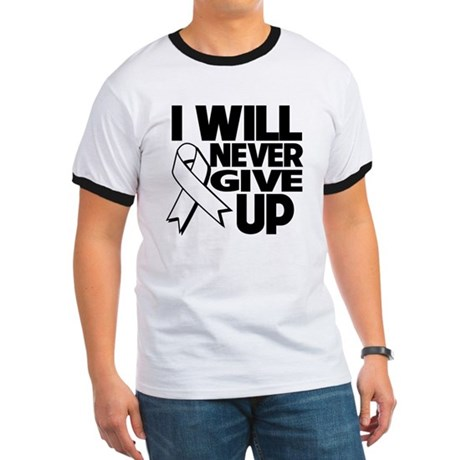 Never Give Up Lung Cancer Ringer T