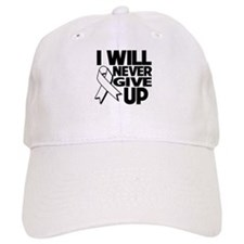 Never Give Up Lung Cancer Baseball Cap