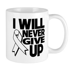 Never Give Up Lung Cancer Mug