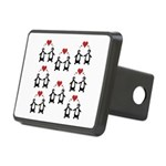 Penguins In Love Rectangular Hitch Cover